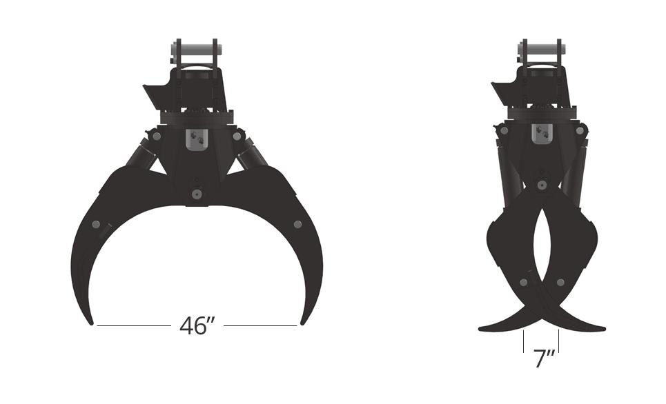 Pierce Forestry Grapple - TC46