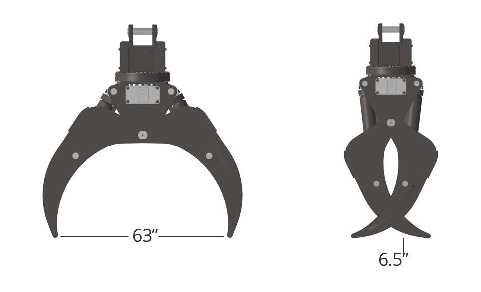 Pierce Forestry Grapple TC63