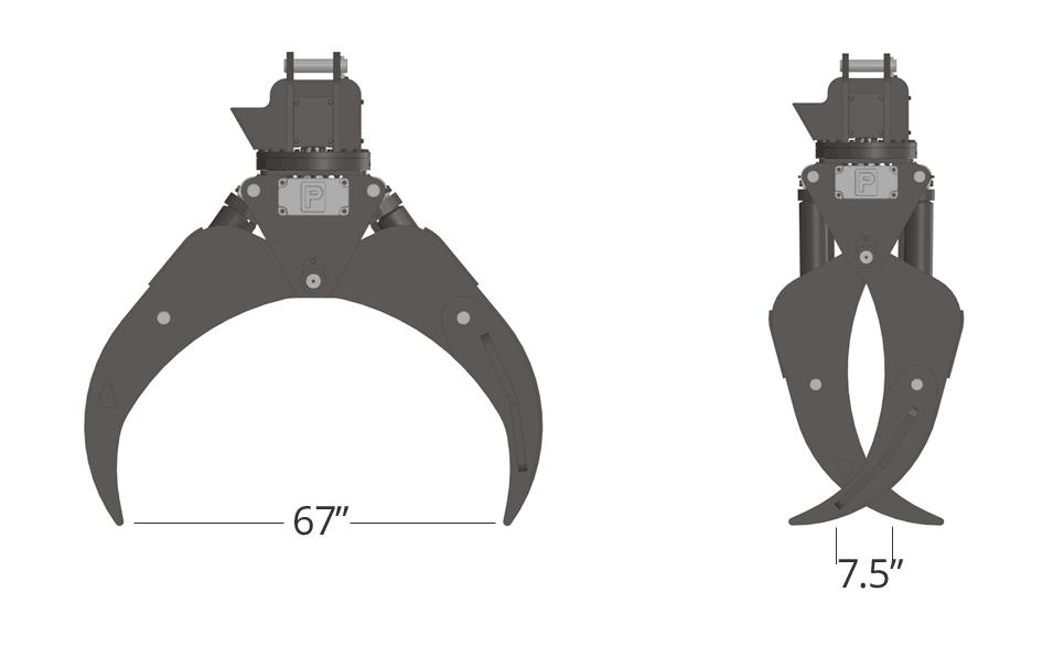 Pierce Forestry Grapple TC68