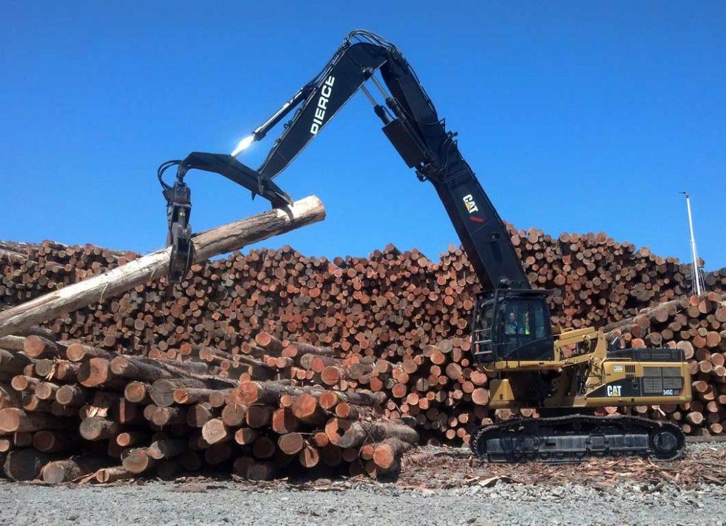 Pierce Millyard/Sortyard Forestry Boom