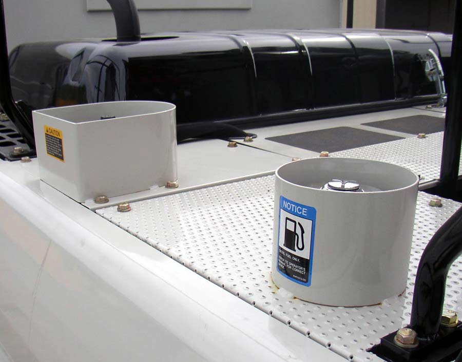 NON-SKID TRACTION SURFACE AND FILL GUARDS